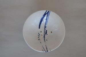 White bowl, hand thrown 20mm x 70mm